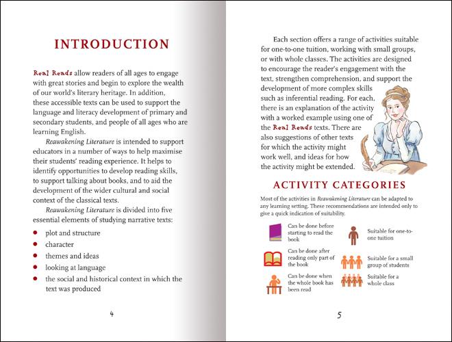 Reawakening Literature: Working with Classic Literature Retellings spread 1