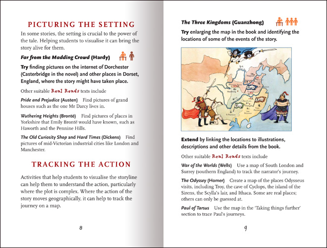 Reawakening Literature: Working with Classic Literature Retellings spread 3